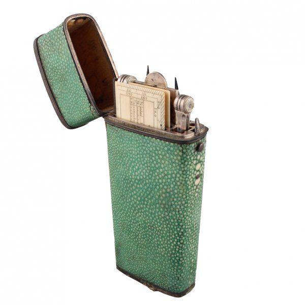 Georgian Shagreen Cased Drawing Instruments