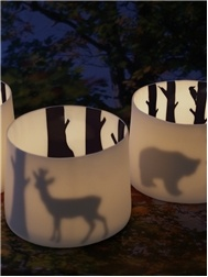 Porcelain tea lights. Anna karin Dahl