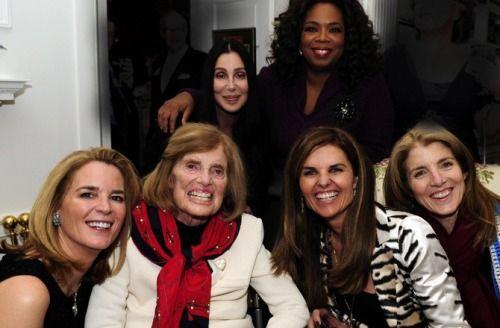 Sydney Lawford, Eunice Kennedy Shriver, Cher, Oprah Winfrey, Maria Shriver and Caroline Kennedy
