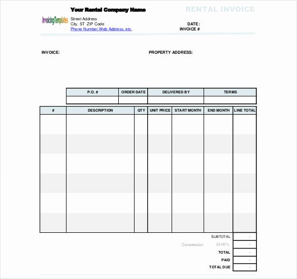 Rent Invoice Template Word Unique 60 Microsoft Invoice Templates Pdf Doc Excel Invoice Template Word Invoice Template Excel Templates