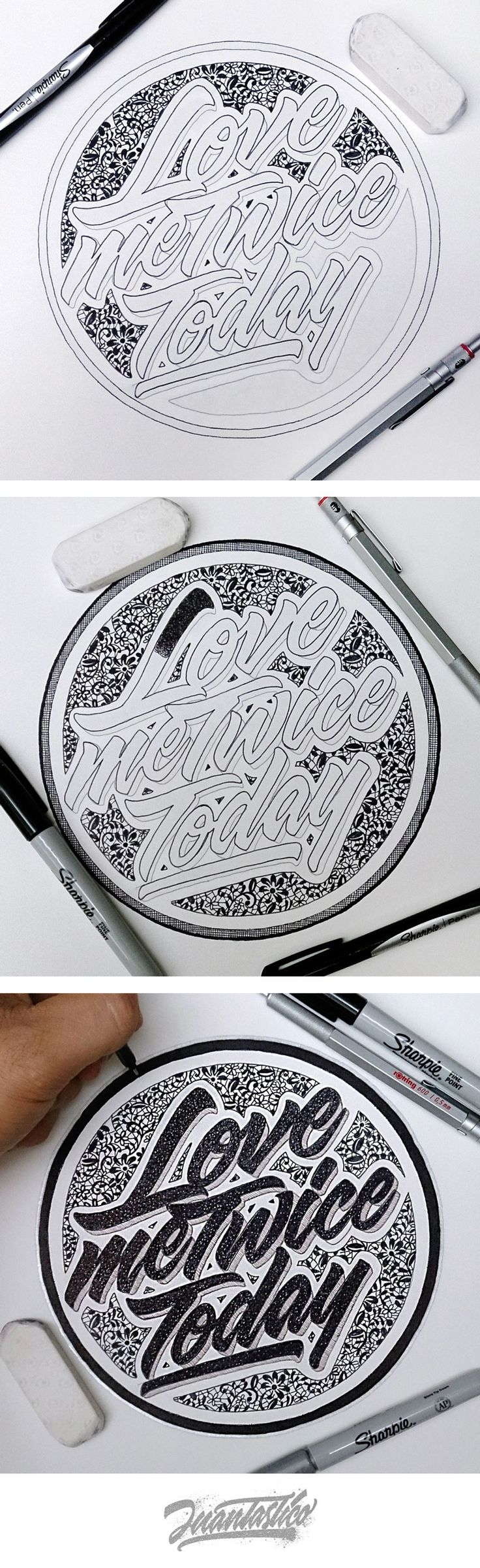 LOVE Me Twice.. _ @el_juantastico and his amazing lettering (Always the best quality)