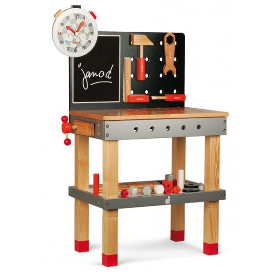 Janod - Tool Work Bench and Tools. Just like Dad's... #Entropywishlist #pintowin