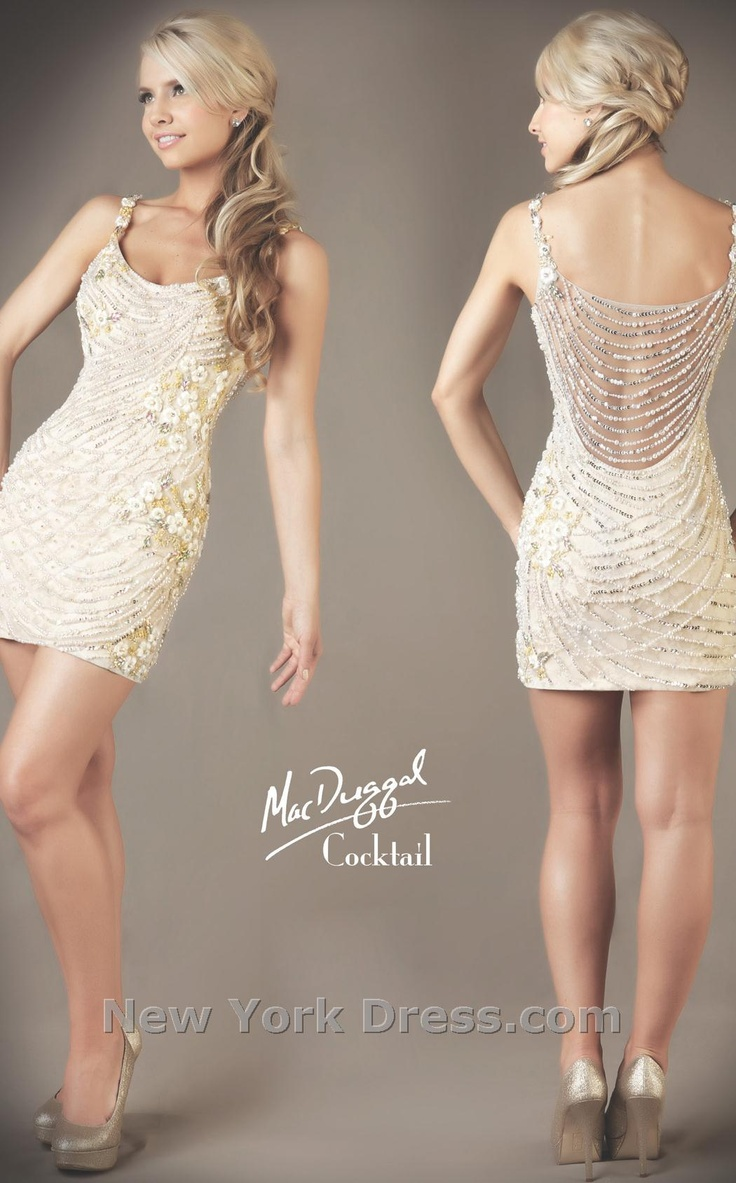 Mac Duggal 61089D Exotically beaded minidress by Mac Duggal Cocktail $538