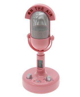 Retro P!NK Microphone Alarm Clock                                                                                                                                                                                                                                   ✮∙ẗℍ!йḲᖮℕ∙¶!ℼḰ∙✮