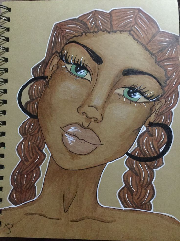copic natural hair art by mzqtz TanyaS