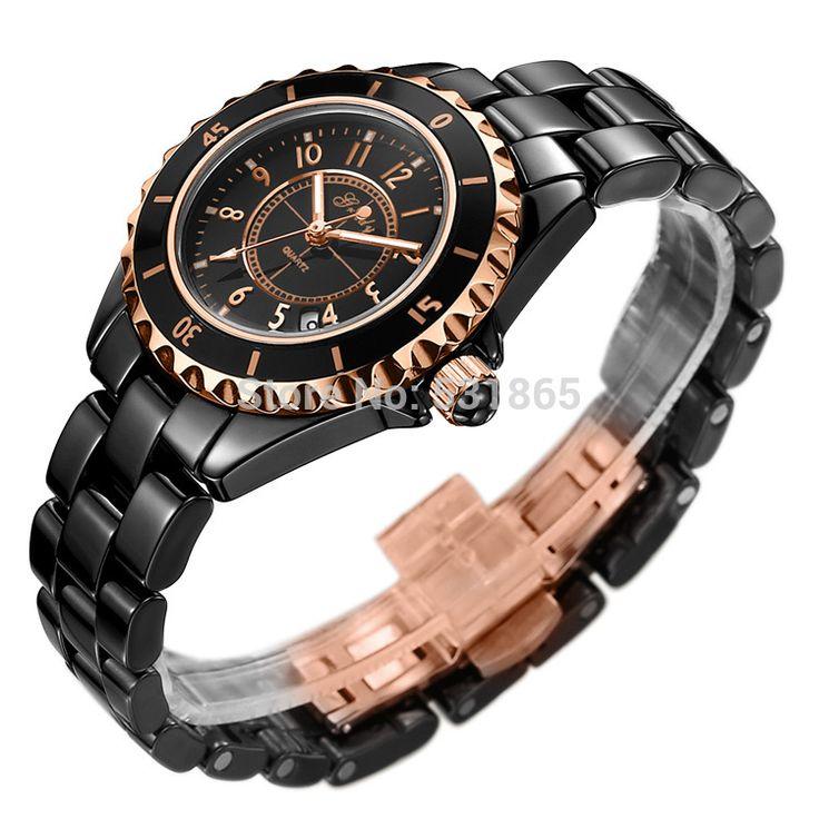 Грейди мода бабочка пряжка керамические спортивные часы для женщин бесплатная доставка Модель H0682