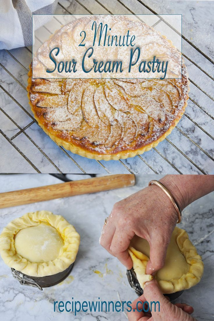 2 Minute Sour Cream Pastry Recipe Winners Quick Easy And Fabulous Recipe In 2020 Sour Cream Pastry Pastry Dessert Recipes For Kids