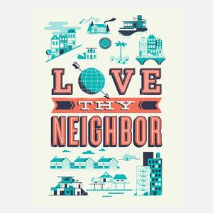 Love Thy Neighbour Print 61x81, 51€, now featured on Fab.