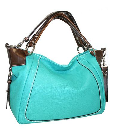 Look at this #zulilyfind! Turquoise Open Sez Me Satchel by Punto Uno #zulilyfinds