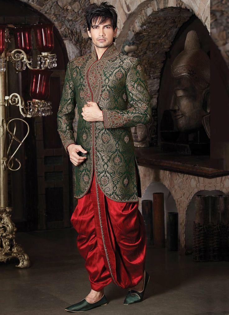 wedding sherwani with dhoti - Google Search