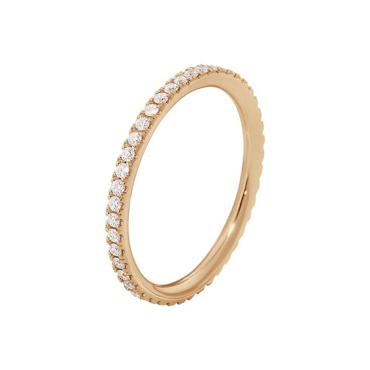 AURORA ring - 18 kt. rosa guld med brillantslebne diamanter