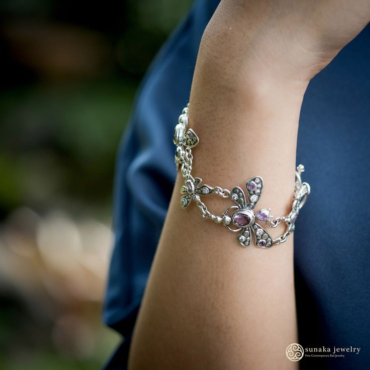 """Inspired by an exotic insect that may be seen near the river and lake, Sunaka Jewelry designed a new Balinese jewelry collection called """"Capung Collection"""" or in English means """"Butterfly Collection"""". As reflected in it's name, this collection featuring exotic form of butterfly ornaminated by the polkadot pattern which strengthening the exotic impression of a woman."""