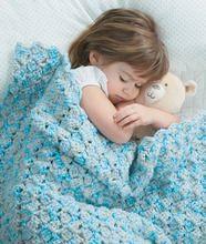 Sweet blue toddler blanket #crochet #baby