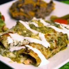Angie's Enchiladas Verdes Recipe, from The Daily Meal. 4.5/5 stars from 16 reviews. Has chicken.