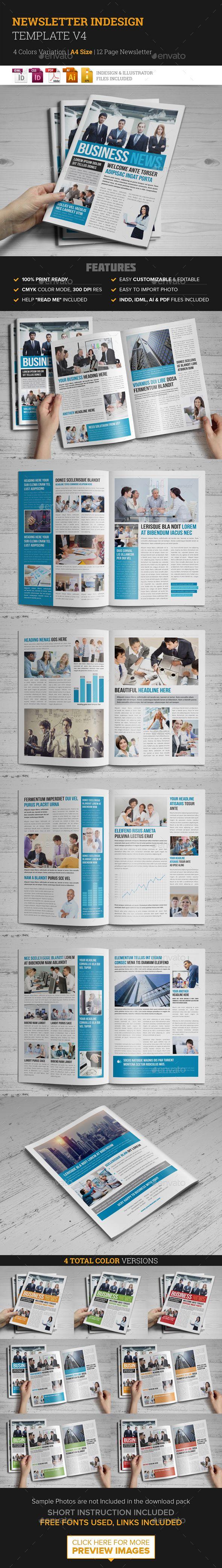 Newsletter Indesign Template v4 115 best Print