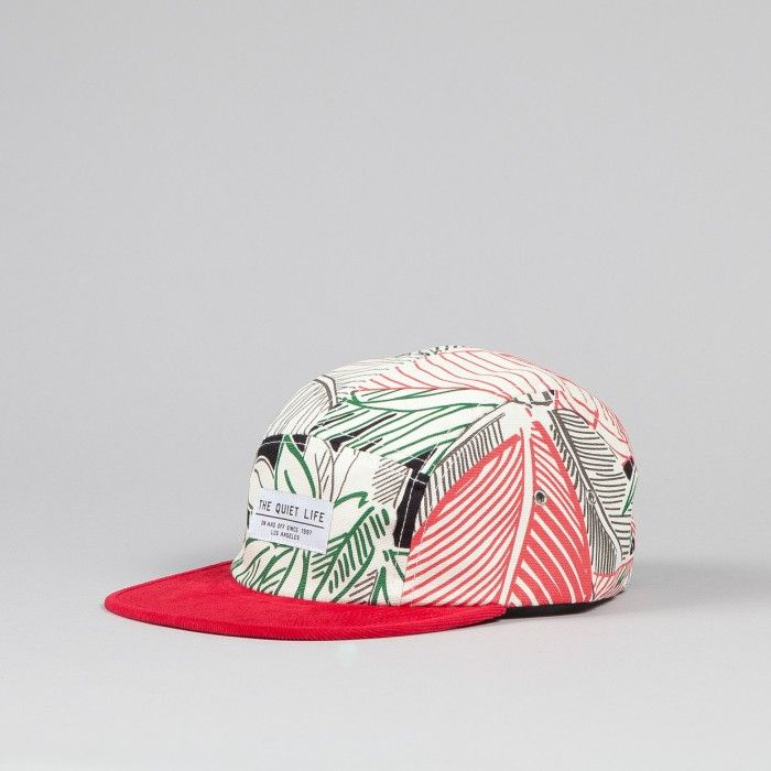 The Quiet Life Bahia 5 Panel Cap White   Red Bill  49313ece3a3d