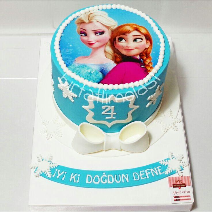 Frozen pasta - frozen cake - elsa - anna