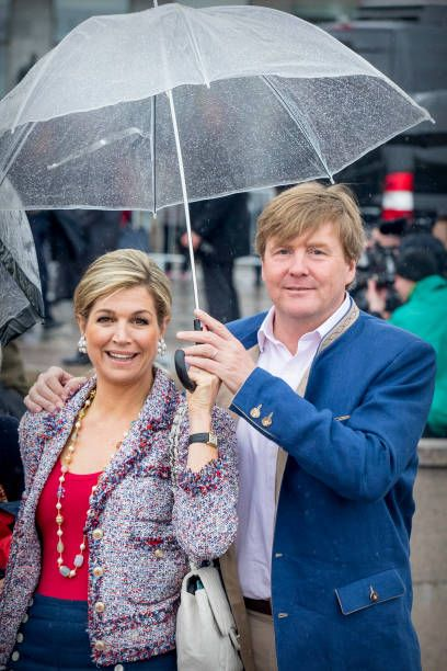 King WillemAlexander of the Netherlands and Queen Maxima of the Netherlands attend a lunch on the Norwegian Royal yatch 'Norge'to celebrate the 80th...