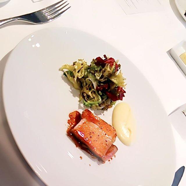 国産ハーブ豚のロティ ジャガイモのピューレと田園風サラダ #ebisu #high #grade #restaurant #herb #pork #pig #meat #potato #puree #salad #france #french #cooking #food #delicious  #恵比寿 #高級 #レストラン #ハーブ #豚 #肉 #じゃがいも #サラダ #フランス #フレンチ #料理 #食 #食べ物 #美味しい