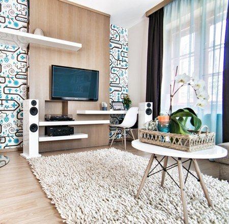 sala-de-estar- painel-papel-de-parede