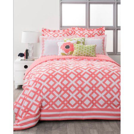 Free 2-day shipping. Buy Style Nest La Jolla Coral Bed-in-a-Bag 8-Piece Bedding Set at Walmart.com