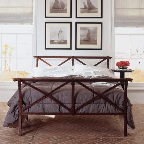 43 best images about metal beds on pinterest metal frames guest rooms and kantha quilt - Trompe loeil hoofd bed ...