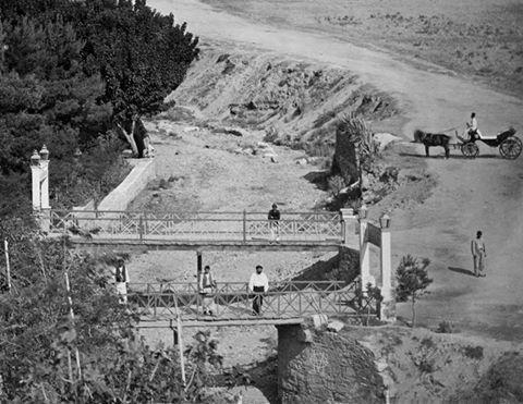 Πέτρος Μωραΐτης, 1870, Αθήνα, στα γεφύρια του Ιλισού [λεπτομέρεια]. Petros Moraitis,1870, The Ilissos bridge