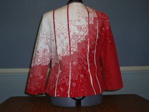 """""""Peppermint"""" by Joan D. The princess seam style coordinated with the bargello quilting is interesting."""