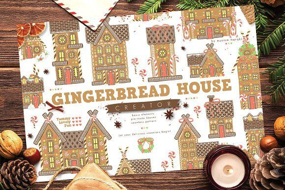 30%OFF Gingerbread House Creator by Euonia Meraki on @creativemarket