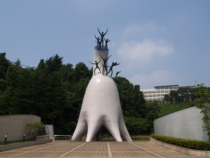 """""""Tower of Mother"""" by Taro Okamoto.  http://maps.google.co.jp/maps?q=35.607853,139.557001"""