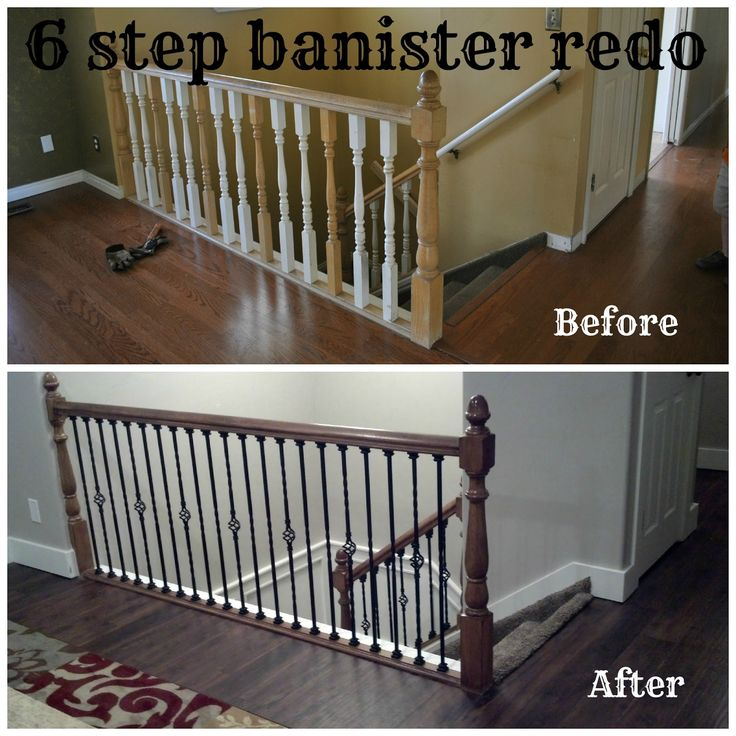 Bits Of Everything: 6 Step Banister Redo #home #redo #banister
