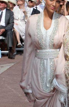 Moroccan Royal Princess Lalla Soukaina Wearing Traditional Moroccan Caftan Attending Royal