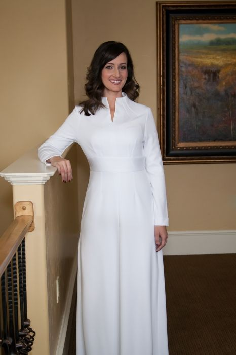 Lds Wedding Gowns For Rent : Gown lds dress modest dresses white attire temple