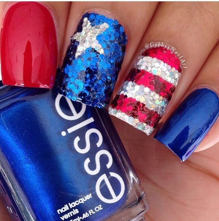 29 fantastic fourth of july nail design ideas - Nail Design Ideas