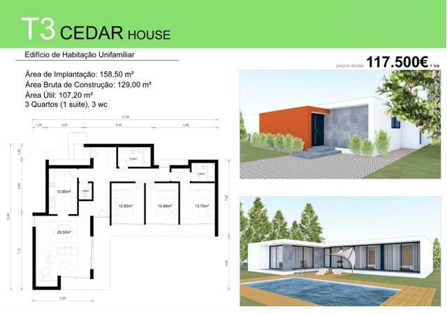 T3 CEDAR HOUSE  - Procura um T3 ? Temos a solução mais rápida e económica para si. Consulte-nos.