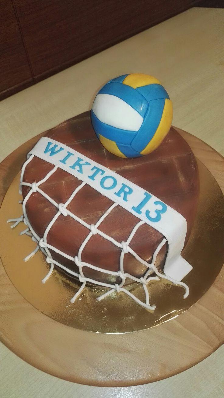 Dla miłośnika siatkówki - Volleyball cake