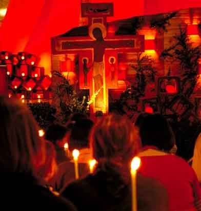"""The centurion answered and said, ""Lord, I am not worthy that You should come under my roof. But only speak a word, and my servant will be healed."" Matthew 8:8 (Taize worship)"