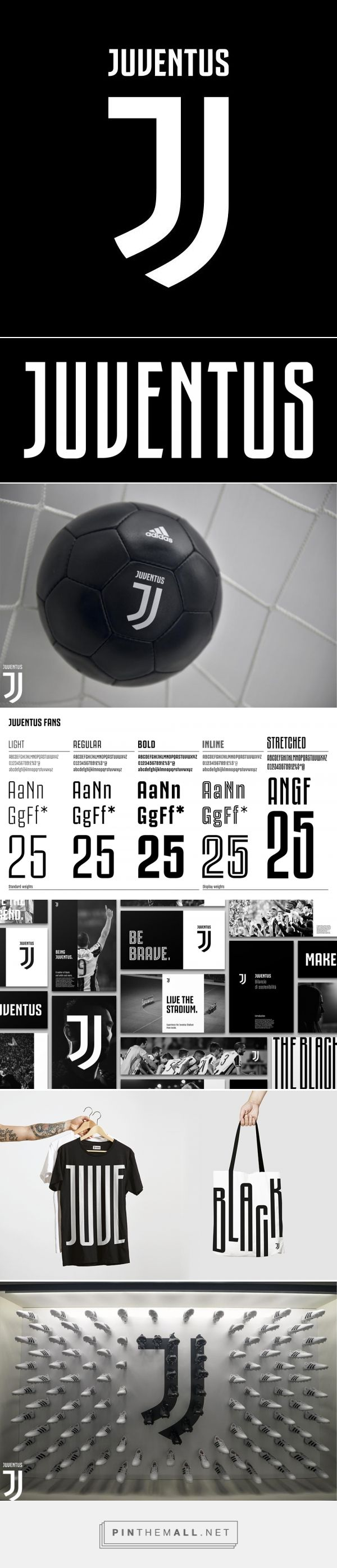 Brand New: New Logo and Identity for Juventus by Interbrand - created via https://pinthemall.net