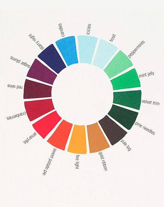holiday colour wheel --- http://thisisnthappiness.com/image/37856914182#