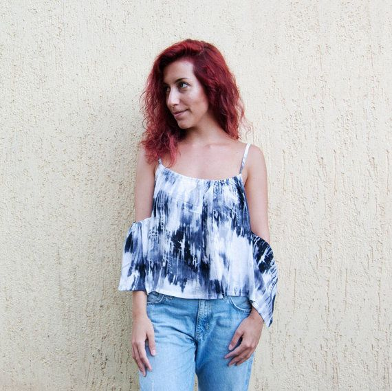 PARIS top Cold Shoulder top. by StitchesAndLoopsShop on Etsy