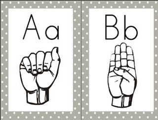 Classroom Freebies Too: Word Wall Letters - American Sign Language