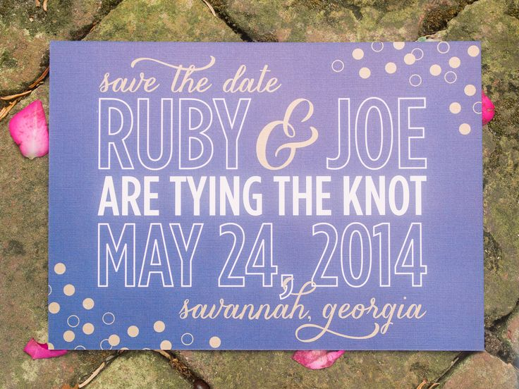 How to Word Your Save-the-Dates | Photo by: Tim Willoughby | TheKnot.com     Front: SAVE THE DATE - FOR OUR WEDDING - JOHN & SARAH - APRIL 9, 2016 MEMPHIS, TENNESSEE - FORMAL INVITATION TO FOLLOW