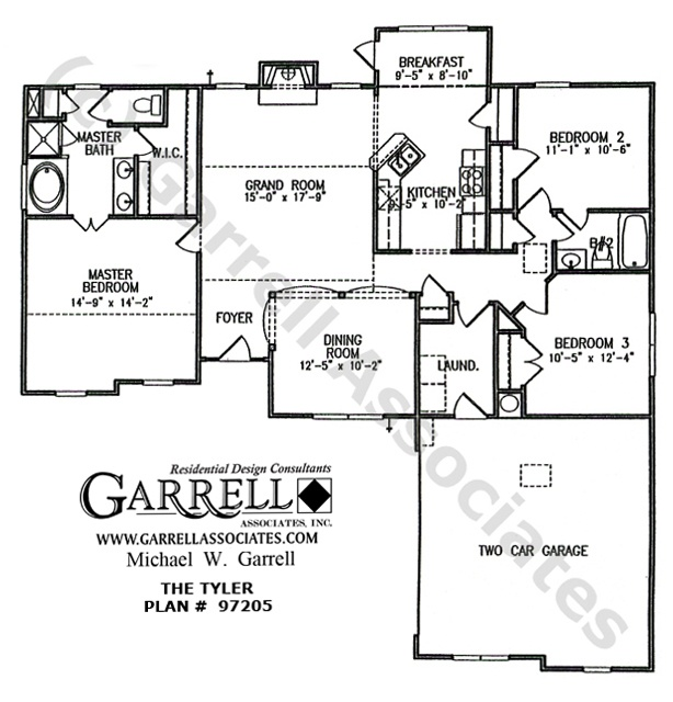 Small House Floor Plans Ranch: Tyler House Plan # 97205, 1st Floor Plan, Ranch Style