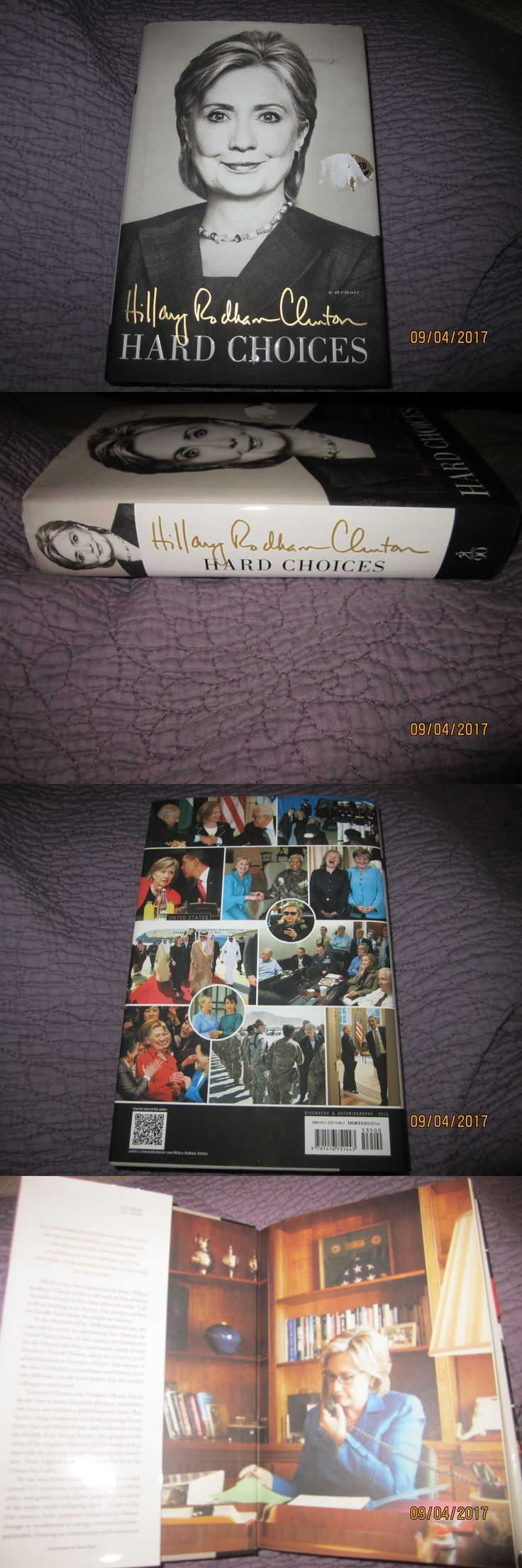Hillary Clinton: Signed Hillary Rodham Clinton - Hard Choices Hardcover Book Autographed Proof -> BUY IT NOW ONLY: $39.95 on eBay!