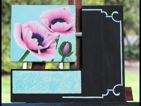 Pintar flores - Acrilicos - Mabel Blanco
