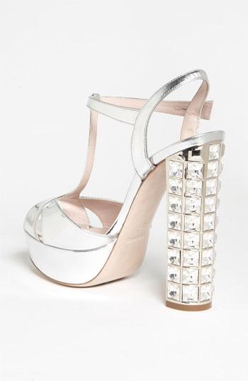 Miu Miu Crystal Heel Sandal | Nordstrom