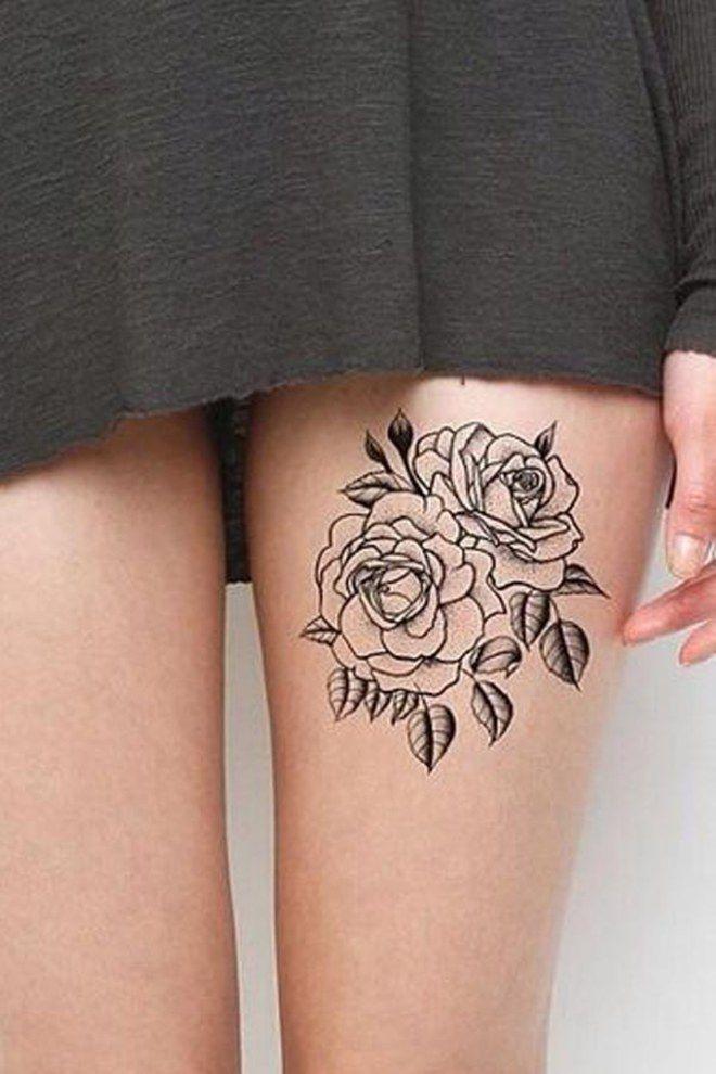 Sexy pour la vie 50 tatouages tomber sexy fleur et - Tatouage rose bleu ...