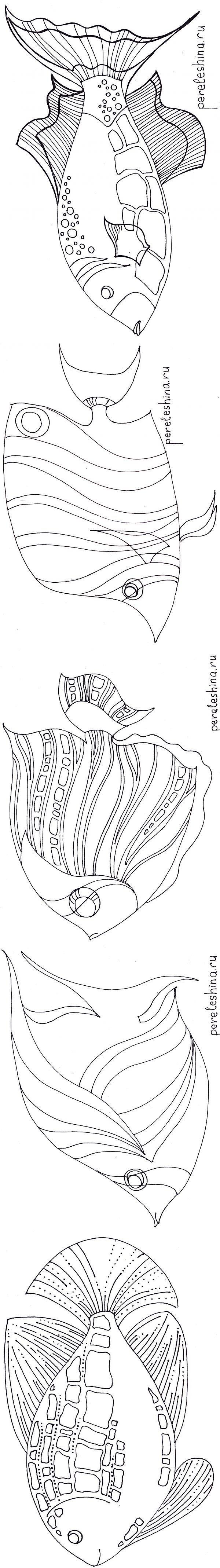 Трафареты рыб от Ирины Перелешиной | БАТИК и Я