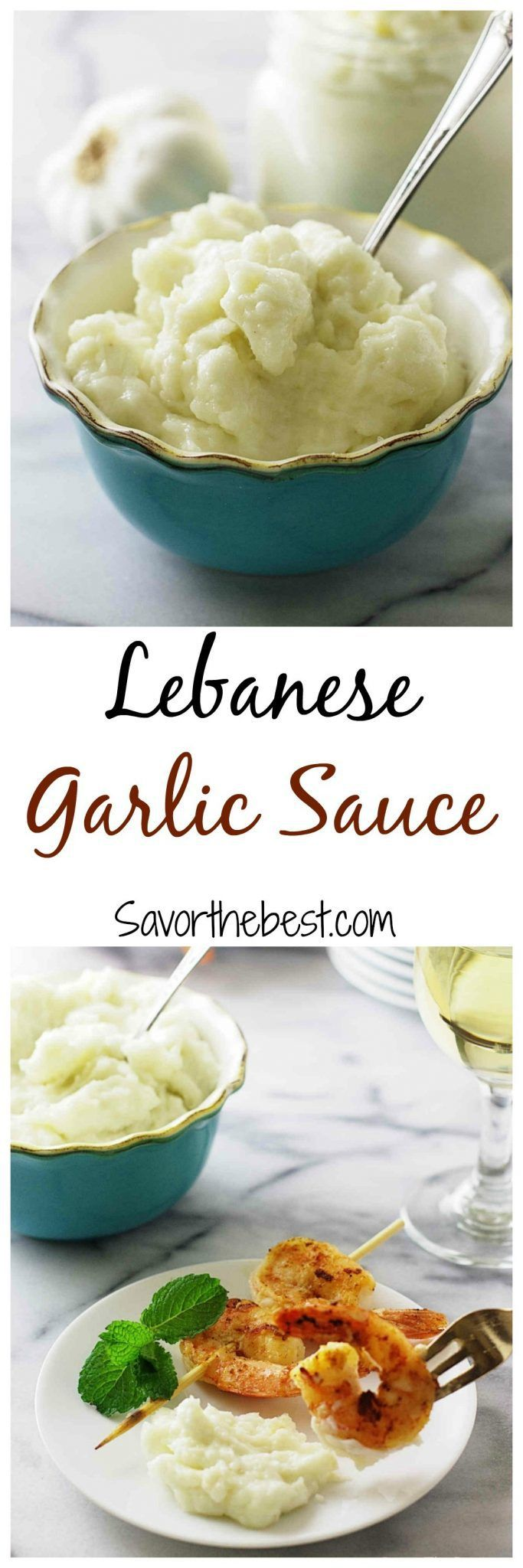 Lebanese garlic sauce       30 large garlic cloves, about 1 cup     1 teaspoon salt     ¼ cup lemon juice     3 cups oil, avocado, vegetable, canola, peanut or corn (do not use olive oil or sesame oil)