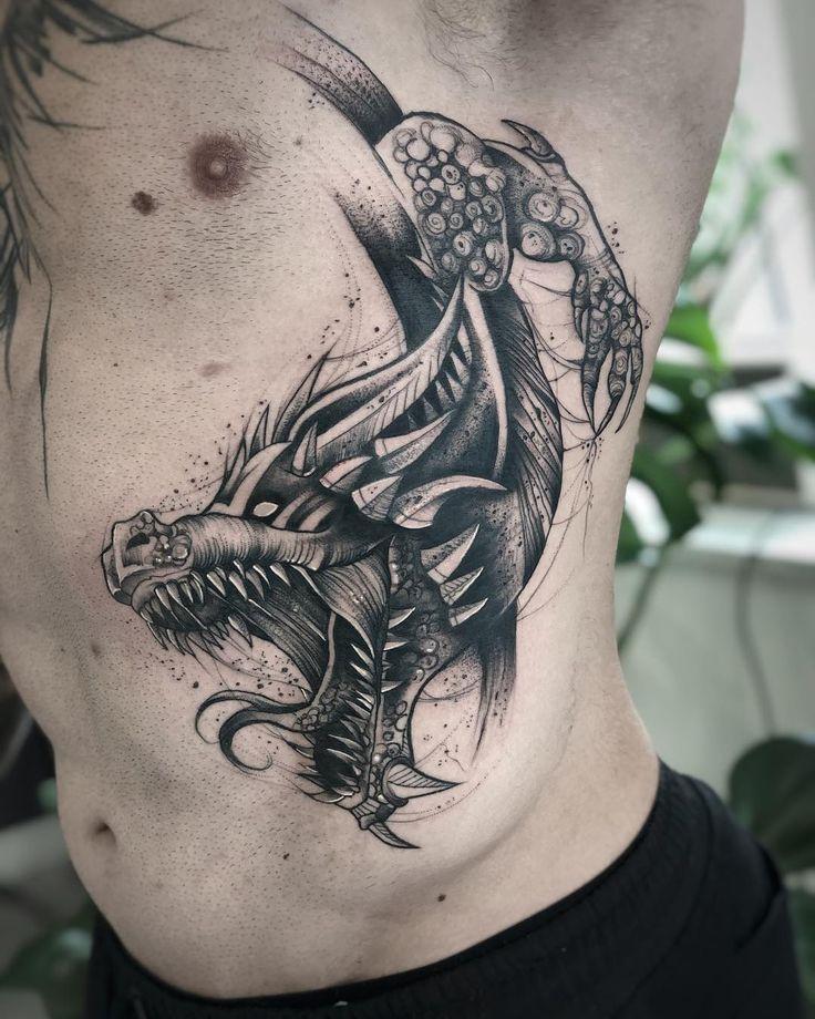 Dragontattoo Tattoo Tattos Tatuaje Tattoowor Blacktattoo Blackwork Black Tatuaje De Dragon Tatuajes Dragones Tatuaje Kanji